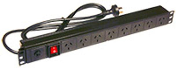 8X10A GPO 1RU PDU H/V IEC-C20 Mains plug