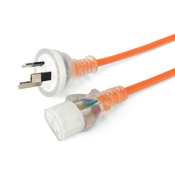 IEC-C13 Mains 3m Ora Orange Transparent - K3758ORA