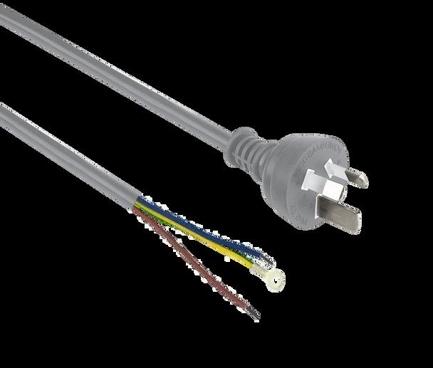 Power Cord 3m 0.75mm' Gry 3-Pin M5 O-Term+P/Strip - K3782-003