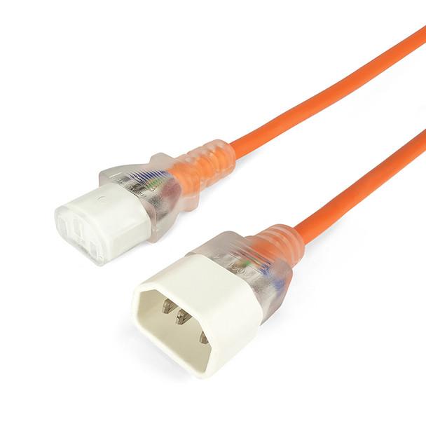 IEC-C13 To C14 3m Ora Transparent Connectors - K3794ORA
