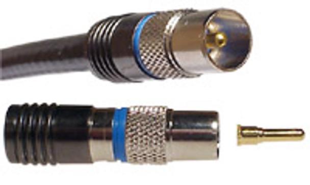 Pal RG6 Quad/Dual Compression Connector - P0728BLU