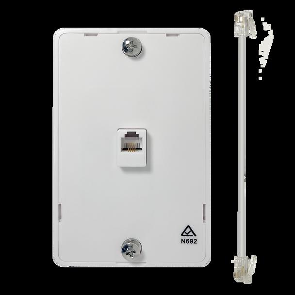 Wall Phone Brkt 6P4C Whi - P1415