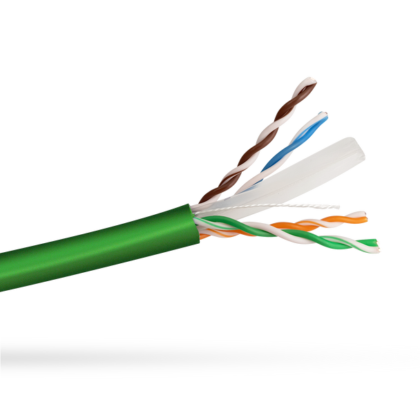 Cat6 Solid Cable; UTP Cable 305m Reel In Box: Green