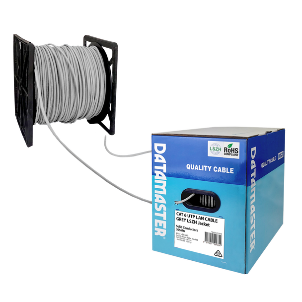 Cat6 Solid Cable; UTP Cable 305m Reel In Box: Grey