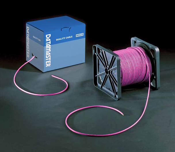 Cat6 Solid Cable; UTP Cable 305m Reel In Box: Pink