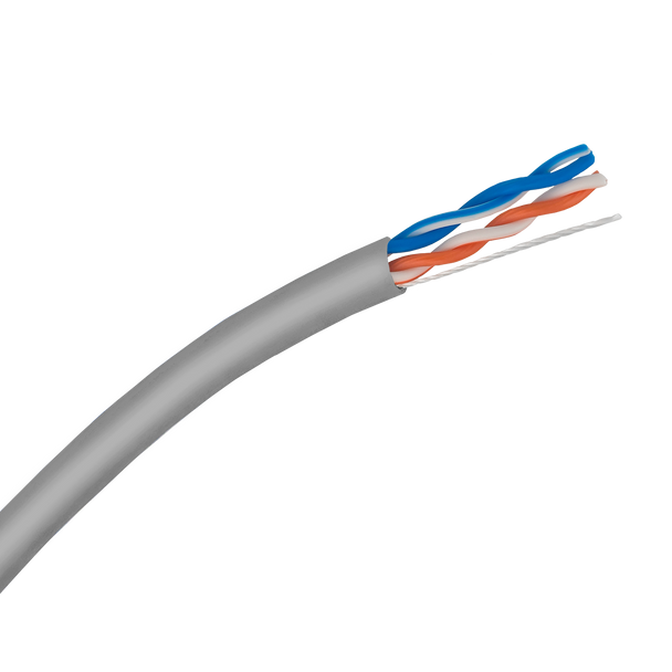 Cat5e Stranded Cable 2-Pair; UTP Cable 305m Reel: Grey