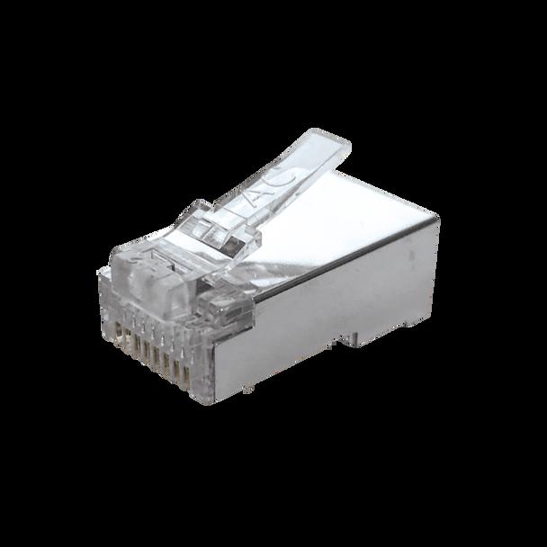 8P8C Rnd/Str (10-Pack) Full Shield - P2165-010