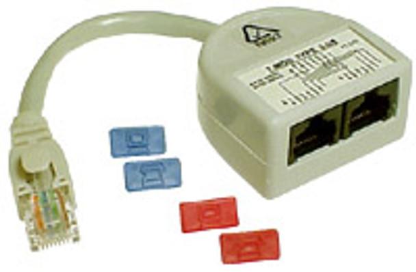 Cat-5 Y-Adaptor DD Data+Data Wiring #4 - P2315