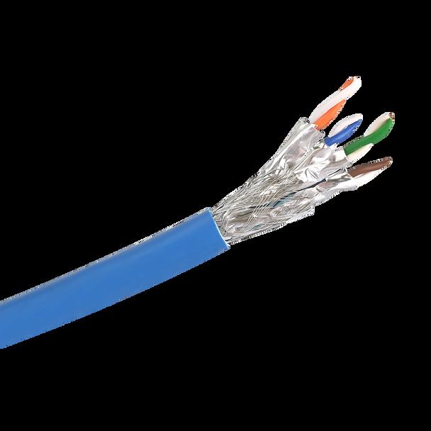 Cat6a S/FTP Solid LSZH Cable 305m Reel : Blue