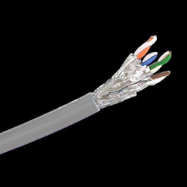 Cat6a S/FTP Solid LSZH Cable 305m Reel : Grey