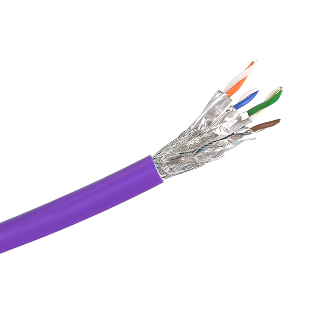 Cat6a S/FTP Solid LSZH Cable 305m Reel : Purple
