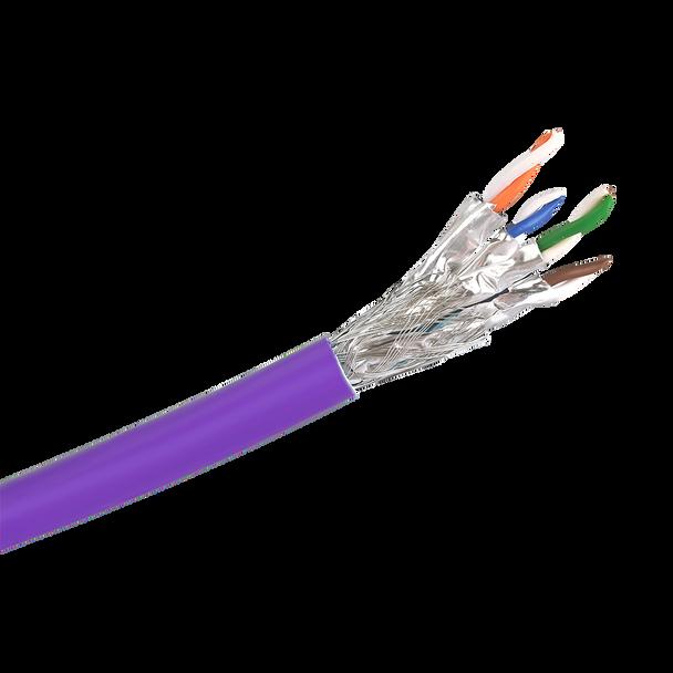 Cat6a S/FTP Solid LSZH Cable 305m Reel : Purple