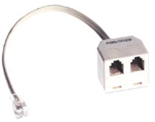 4P4C D/A W/Cord Blk - P2344