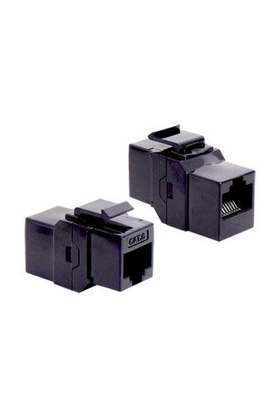 Cat 6 RJ45 Coupler Keystone Black - P2363-B60