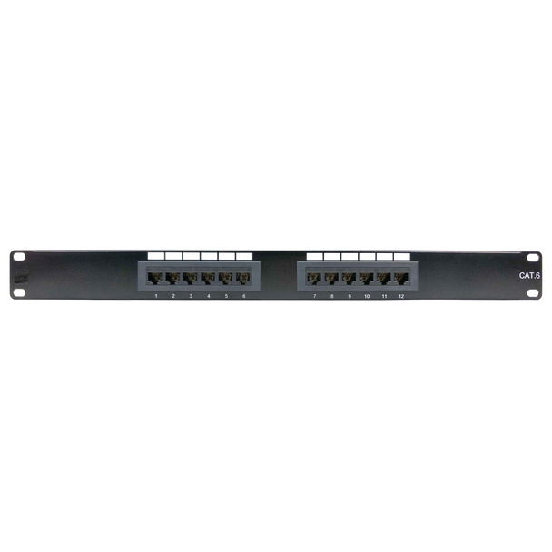P4014 CAT-6 12-PORT PATCH PANEL