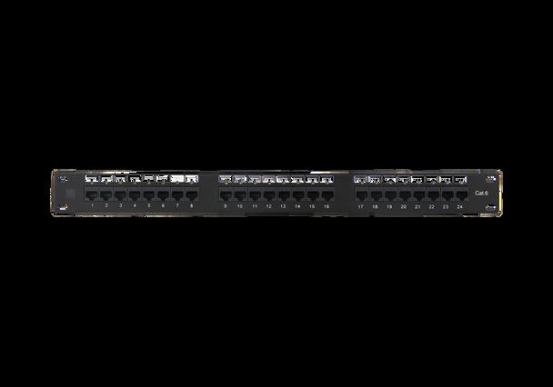 Cat6 24-Port Patch Panel (Cat5e Compatible)