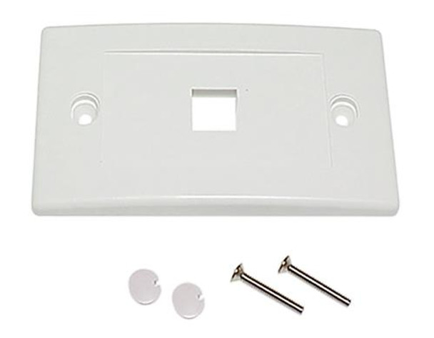1Port Keystone Flush Plate - P4301
