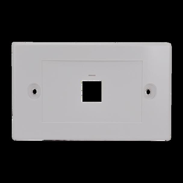 1Port Keystone Flush Plate - P4301