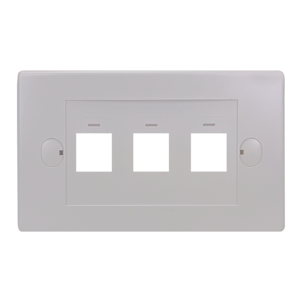 3Port Keystone Flush Plate - P4303