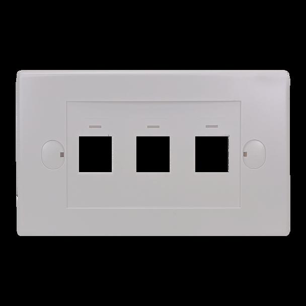 3Port Keystone Flush Plate - P4303