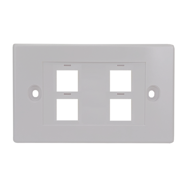 4Port Keystone Flush Plate - P4304
