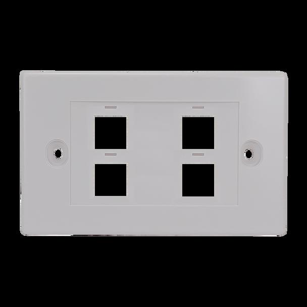 4Port Keystone Flush Plate - P4304