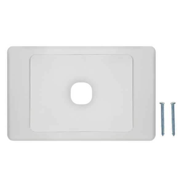 1-Port Aust Flush Plate - P4601WHI