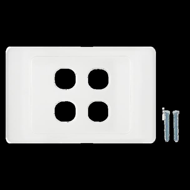 4-Port Aust Flush Plate - P4604WHI