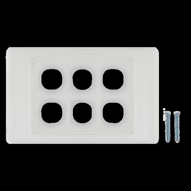 6-Port Aust Flush Plate - P4606WHI