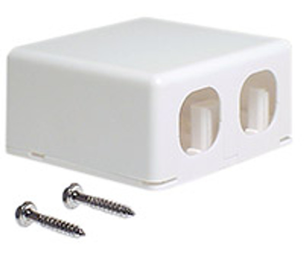 Duplex Surface Box Suits P4600 Series Jacks - P4612WHI