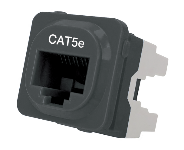 Cat 5e IDC Data Jack Blk 50-Bucket - P4665BLK