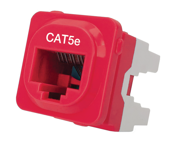 Cat 5e IDC Data Jack Red 50-Bucket - P4665RED