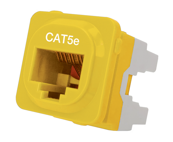 Cat 5e IDC Data Jack Yel 50-Bucket - P4665YEL