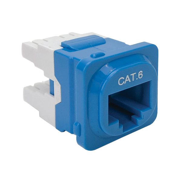 Cat 6 IDC Data Jack Blu 50-Bucket - P4666BLU