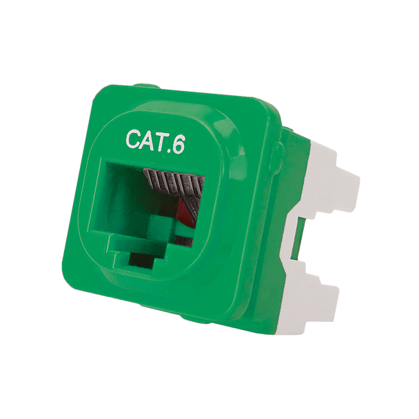 Cat 6 IDC Data Jack Grn 50-Bucket - P4666GRN