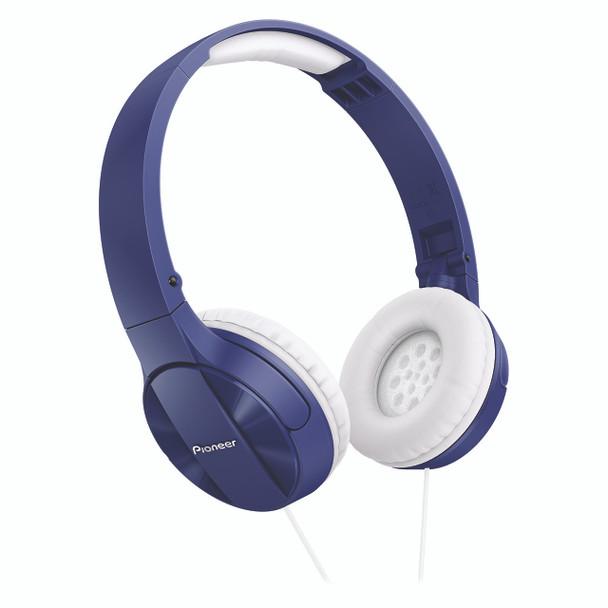 Pioneer Enclosed Dynamic Folding Headphones Blue - SEMJ503L