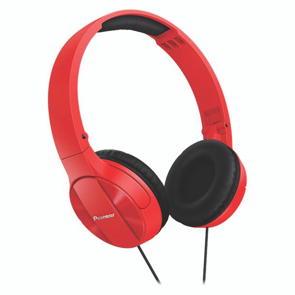 Pioneer Enclosed Dynamic Folding Headphones Red - SEMJ503R