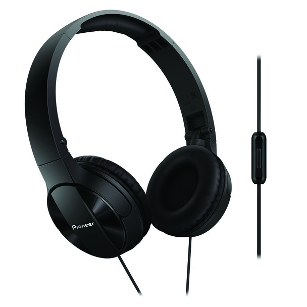 Pioneer Enclosed Dynamic Folding Headphones With Mic Black - SEMJ503TK