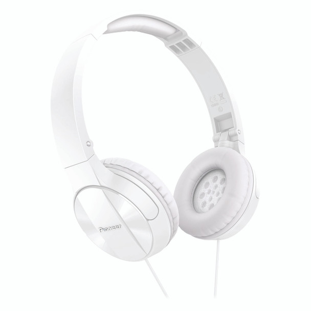 Pioneer Enclosed Dynamic Folding Headphones White - SEMJ503W