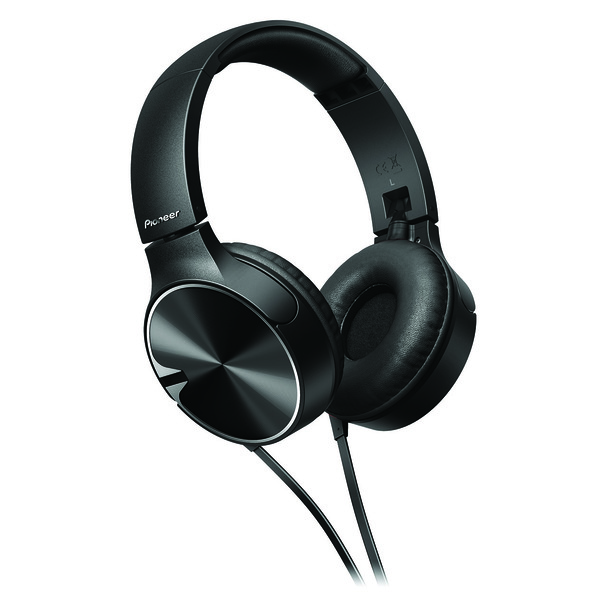 Pioneer Enclosed Bass Dynamic Headphones With Mic Black - SEMJ722TK