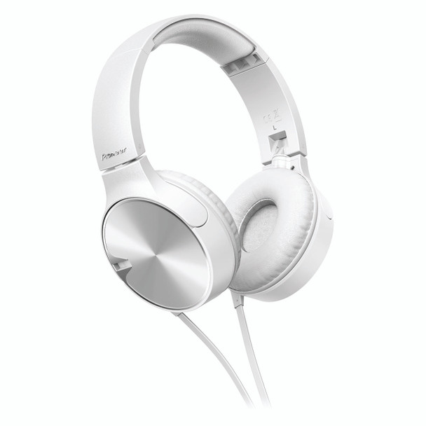 Pioneer Enclosed Bass Dynamic Headphones With Mic White - SEMJ722TW