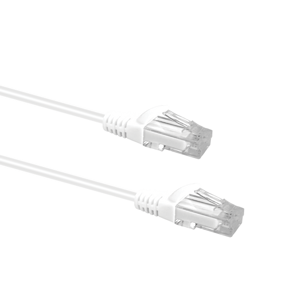 Slim Cable Cat6 UTP Patch Cable 0.25m; WHITE
