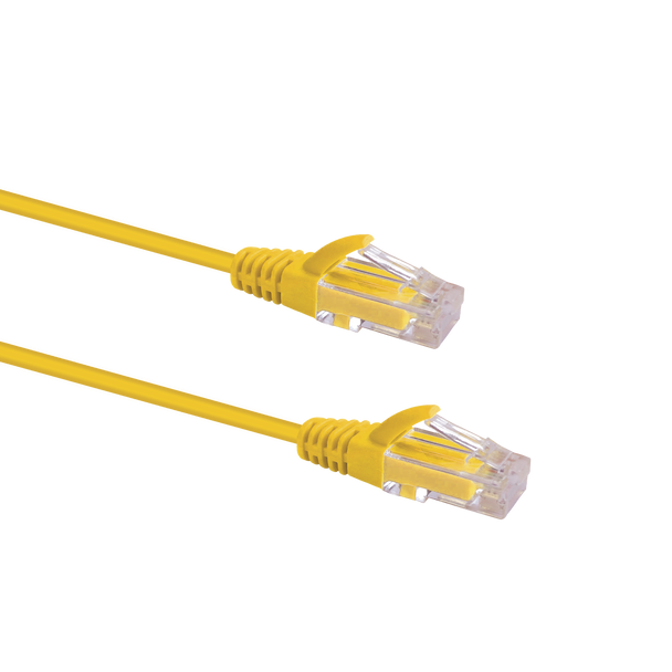 Slim Cable Cat6 UTP Patch Cable 0.25m; YELLOW