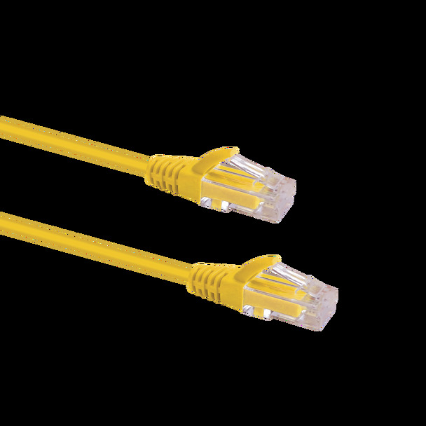 Slim Cable Cat6 UTP Patch Cable 1.5m; YELLOW