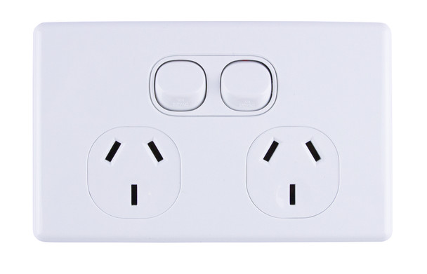 2-Gang Power Outlet Slim