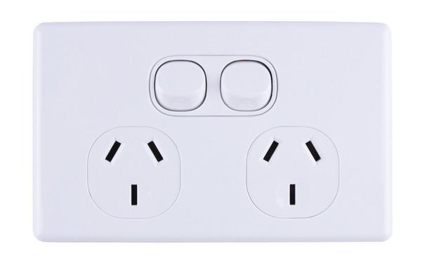 2-Gang Power Outlet Slim