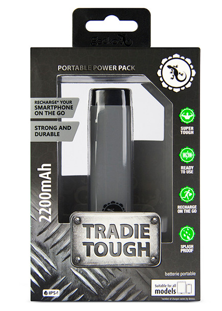 Gecko Tradie Tough - Portable Power Pack 2200mAh