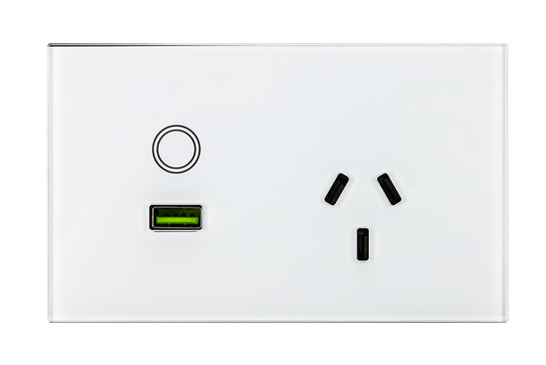 1-Gang Power Outlet with USB