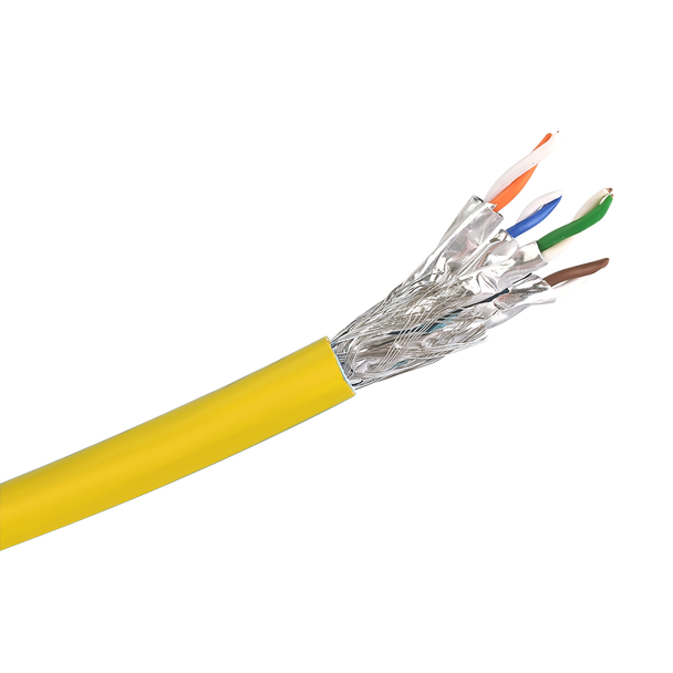 Cat6a S/FTP Solid LSZH Cable 305m Reel : Yellow