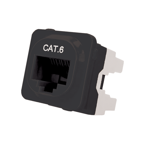 P4666BLK-10 CAT-6 IDC DATA JACK BLACK